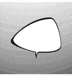Triangular Speech Bubble on Pop Art Background vector image