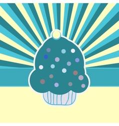 Vintage Cupcake Card Background vector image