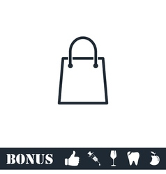 Pack icon flat vector image vector image