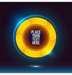 Round Yellow Shape vector image