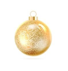 The Christmas ball vector image vector image