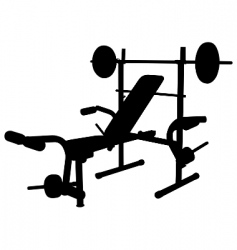 weight bench vector image vector image