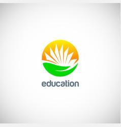 education knowledge book logo vector image vector image