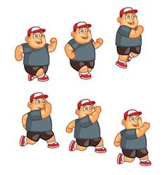 Fat boy jumping sprite vector