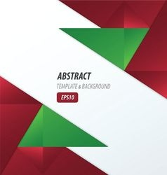 polygons design template red and green color vector image vector image