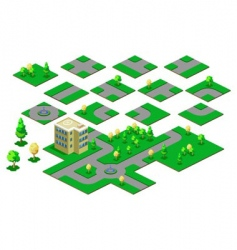roadway isometric vector image