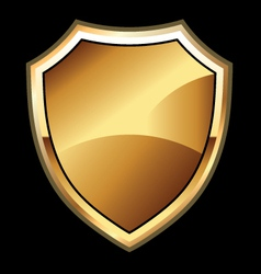 round shield vector image