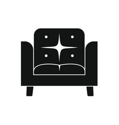 armchair icon silhouette vector image
