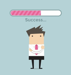 Businessman and success loading bar vector image