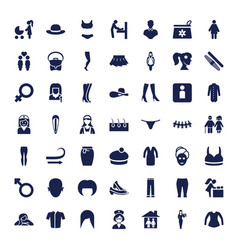 49 woman icons vector