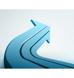 Abstract 3d arrow with place vector