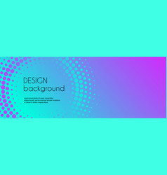 Abstract colorful gradient banner template vector