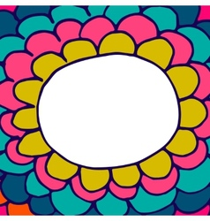 Abstract floral hand-drawn doodle background vector