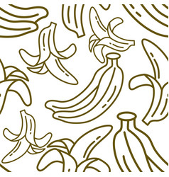banana fruit pattern seamless template vector image