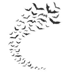 Bats swarm silhouette vector