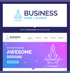 Beautiful business concept brand name precision vector