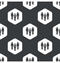 Black hexagon work group pattern vector