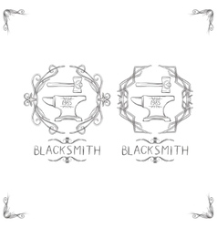 Blacksmith Vintage Logos vector image