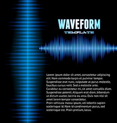 Blue shiny sound waveform background vector