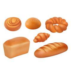 bread realistic bakery food fresh tasting vector image