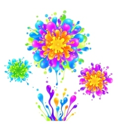 Bright rainbow colors paint splash firework vector image
