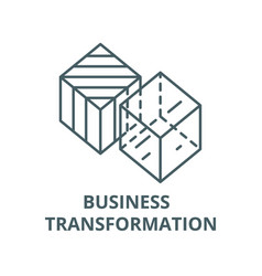 Business transformation line icon vector