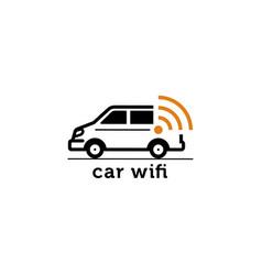Car wifi logo icon ilustration vector