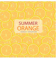 circle slices of orange pattern seamless vector image