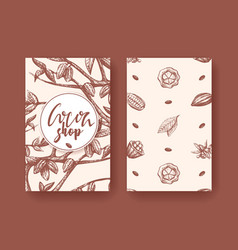 cocoa superfood two sides vector image