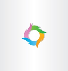 colorful logo circle wave business icon sign vector image