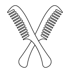 Combs icon outline style vector image
