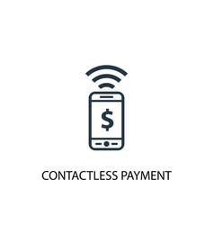 Contactless payment icon simple element vector