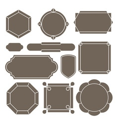 Contour label vector image