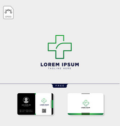 cross medicine logo template and get free vector image