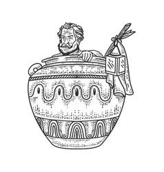 diogenes cynic sketch vector image