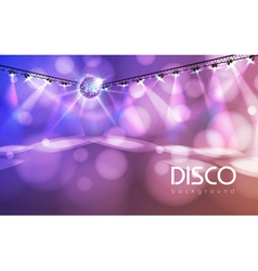 Disco ball abstract background vector image