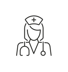 Doctor thin line icon medicine and hospital vector