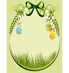 Easter decoration frame vector image