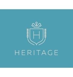 Elegant monogram letter H logotype Premium crest vector