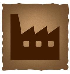 Factory sign Vintage effect vector image