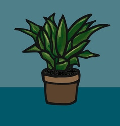 Flower in a pot image vector image