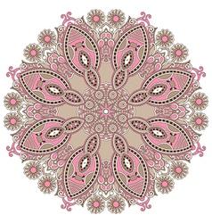 Geometric doily pattern vector