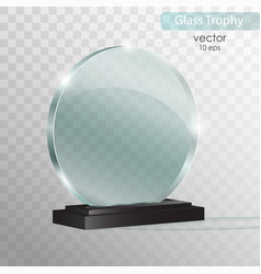 glass plate glass trophy award vector image