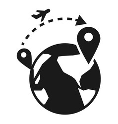 global refugee migration icon simple style vector image