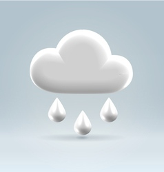 Glossy white plastic weather icon vector image