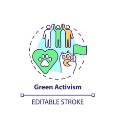 Green activism concept icon vector