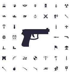 Handgun icon vector