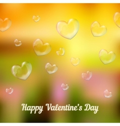 happy valentines day Heart-shaped soap bubbles vector image