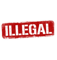 illegal sign or stamp vector image