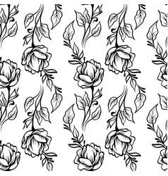 Lace elegant line art vintage pattern with flowers vector